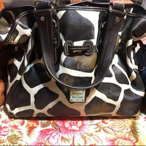 Dooney and Bourke Leather Bag Black and white